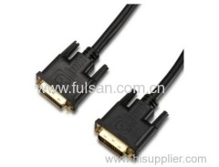 6FT Gold Plated DVI (24+1) Male to Male Cable
