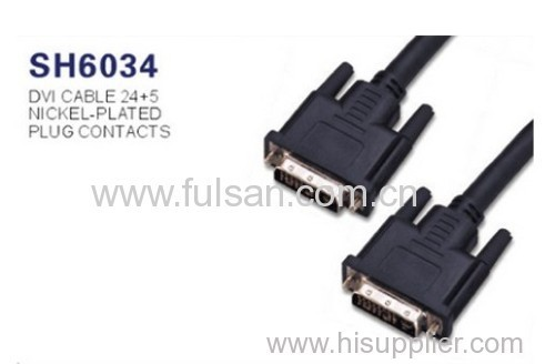UL20276 6M DVI 24+5 to dual DVI 24+5 cable