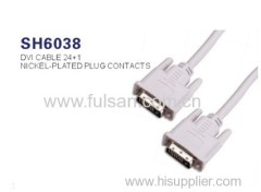 DVI cable Gold plated DVI to DVI cable 24+1