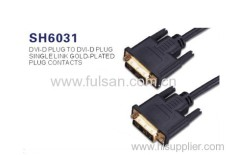 full 1080p New DVI-D Dual Link 10ft Male-to-Male DVI Cable