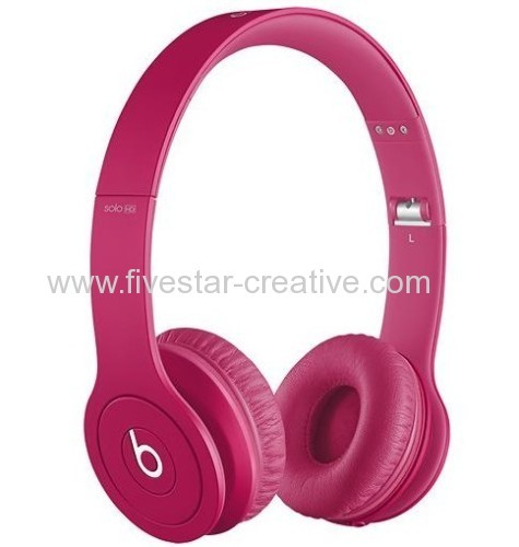 Beats by Dre Beats Solo HD On-Ear Headphones Drenched in Matte Pink