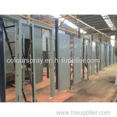 POWDER COATING LINE FOR FIRE DOORS