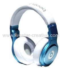 Monster Power Pro 고화질 Over-the-Ear 헤드폰 White Blue