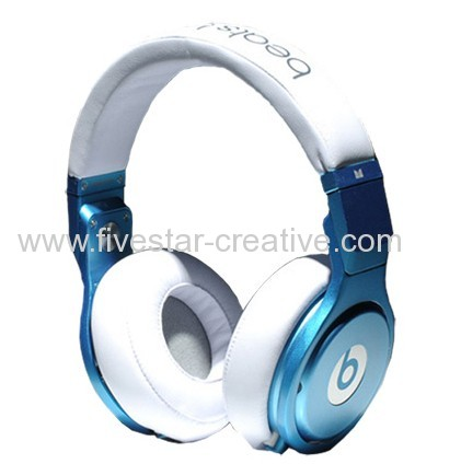 Beats by Dre Pro High Performance Over-ear Headphones Blue White
