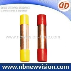Copper Strainer and Muffler for Refrigerator Appliance