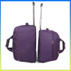 2014 trendy durable large capacity purple trolley travel bag