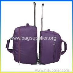 purple trolley travel bag
