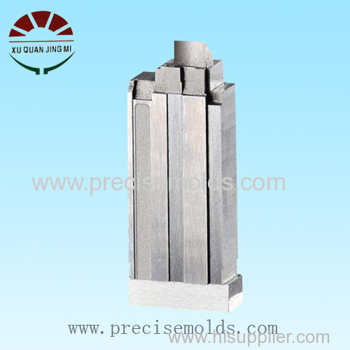 Plastic connector mold cavity insert process