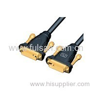 Gold Plated 5FT Black DVI to DVI 18+1 male to male cable with 2 Ferrite