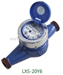 Multi-jet wet type Vane Wheel water meter