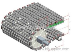 Modular Plastic conveyor belt 2400 for transmission equipment in industry