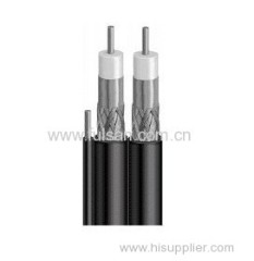 RG6 Dual With Steel Messenger TV Coaxial Wire Cable