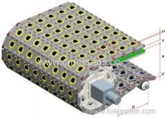 Plastic modular conveyor belt 800-2C manufactures