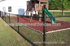 pvc & pe chain link fence protective or decorative usage