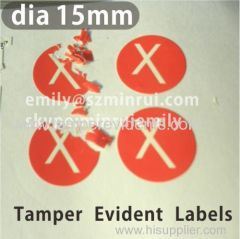 Round Destructible Tamper Evident Stickers