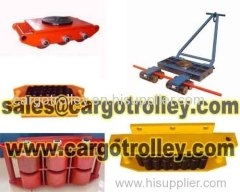 Cargo trolley works as machinery moving dolly