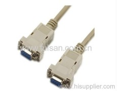 db9 female to female rs232 cable Null Modem Cable Printer Cable