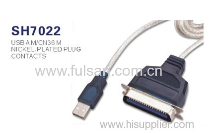 High quality with factory price usb to 25 pins Printer cable USB TO 1284