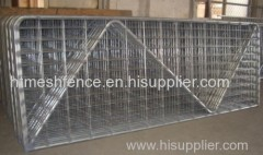 Welded mesh farm fence gate infilled wire farm fence gate