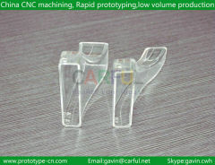 Transparent Plastic machining parts