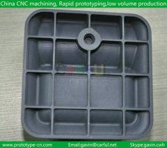 Molded plastic shell CNC machining