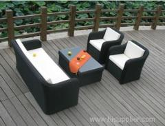 black rattan wicker furniture sofa set