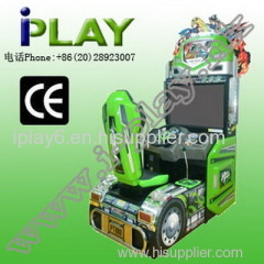 COIN OPERATED POWER TRUCK ARCADE SIMULATOR DRIVING MACHINE