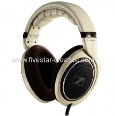 Sennheiser HD598 Open-Back Around-Ear Stereo Headphones Burl Wood Accents