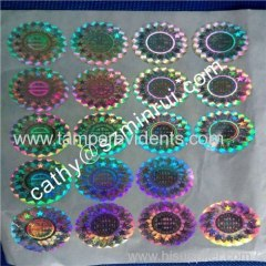 2014Beautiful Holographic Vinyl Security Label with anti-counterfeiting