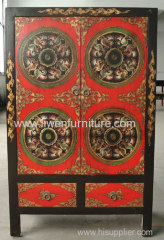 Tibetan antique painted cabinet