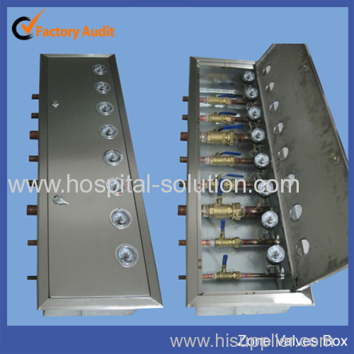 Hospital Medical Gas Control Zone Valve Box Manufacturer