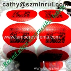 CustomRound Red QR Code Stickers