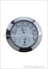 Round insert hygrometer thermometer