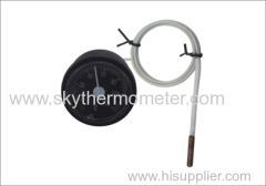 Water heater capillary thermometer