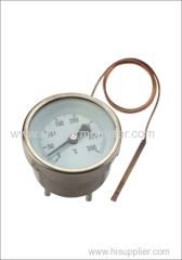 Oven thermometer with capillary