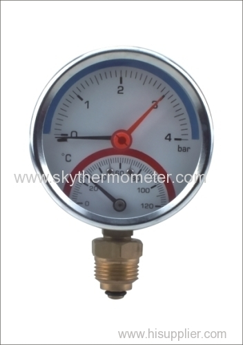 80mm iron case thermomanometer