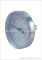 Back connection bimetal thermometer