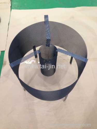 Circular basket titanium MMO mesh anode