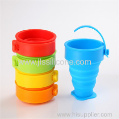 collapsible portable silicone cups