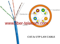 CAT5e UTP-kabel 4pairs PVC mantel