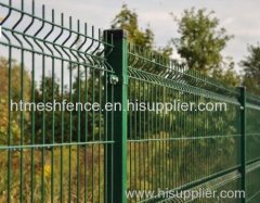 PVC-coated Welded Wire Mesh Fence Plastic-coated wire fence panels