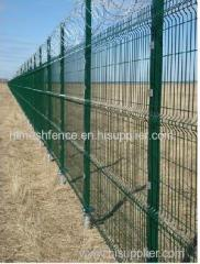 Plastic Dipped Green Welded Wire Mesh Panel