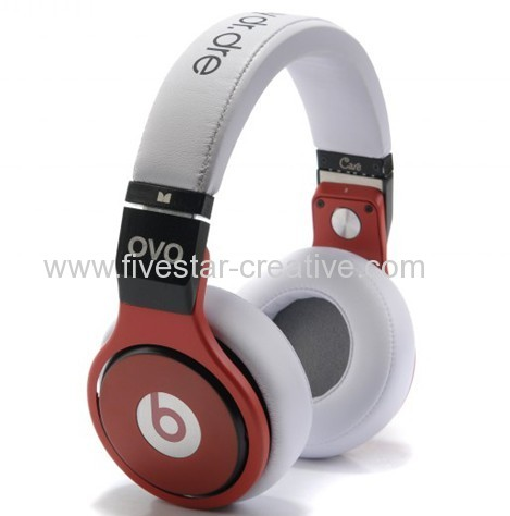 Monster Beats Angel Pro Perfect Sound Foldable Headphones White with Red Wholesale