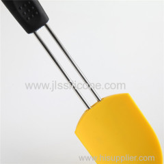Long handle silicone spatula with stainless steel