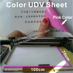 Unique Red/Pink Ultra Destructible Vinyl Label Paper for Cover Security Code Use