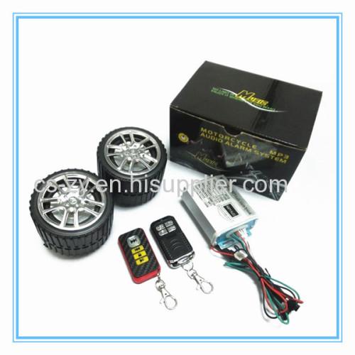 motorcycle alarm with radio
