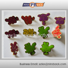 Soft enamel lapel pin badge with any enamel colour