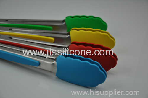 Stainless steel silicone kitchen tongs