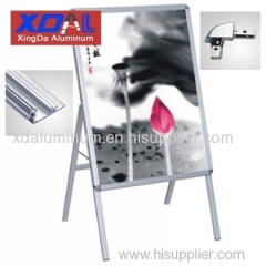 XD-J-S01 Aluminum A frame silver poster stands A1 poster changeable for sales promotion