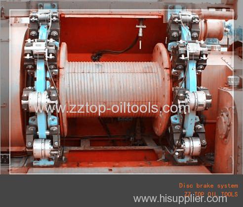 Disc brake system for drilling rig